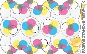 Брендированная гирлянда из шаров с рисунком топ-принт (top print)