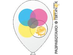 Многоцветная печать на шарах