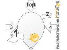 Пять сторон для печати на шаре