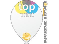 Печать top print (топ-принт) на шарах